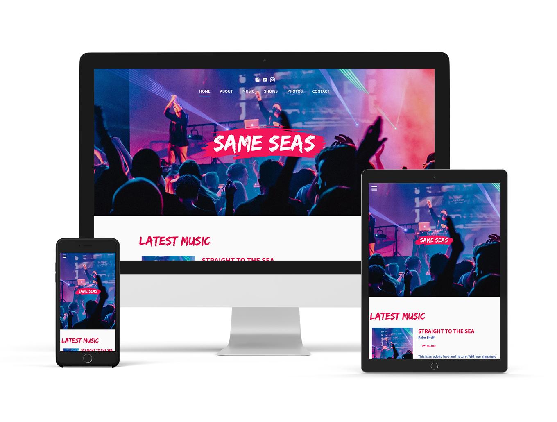 Music website template Playful
