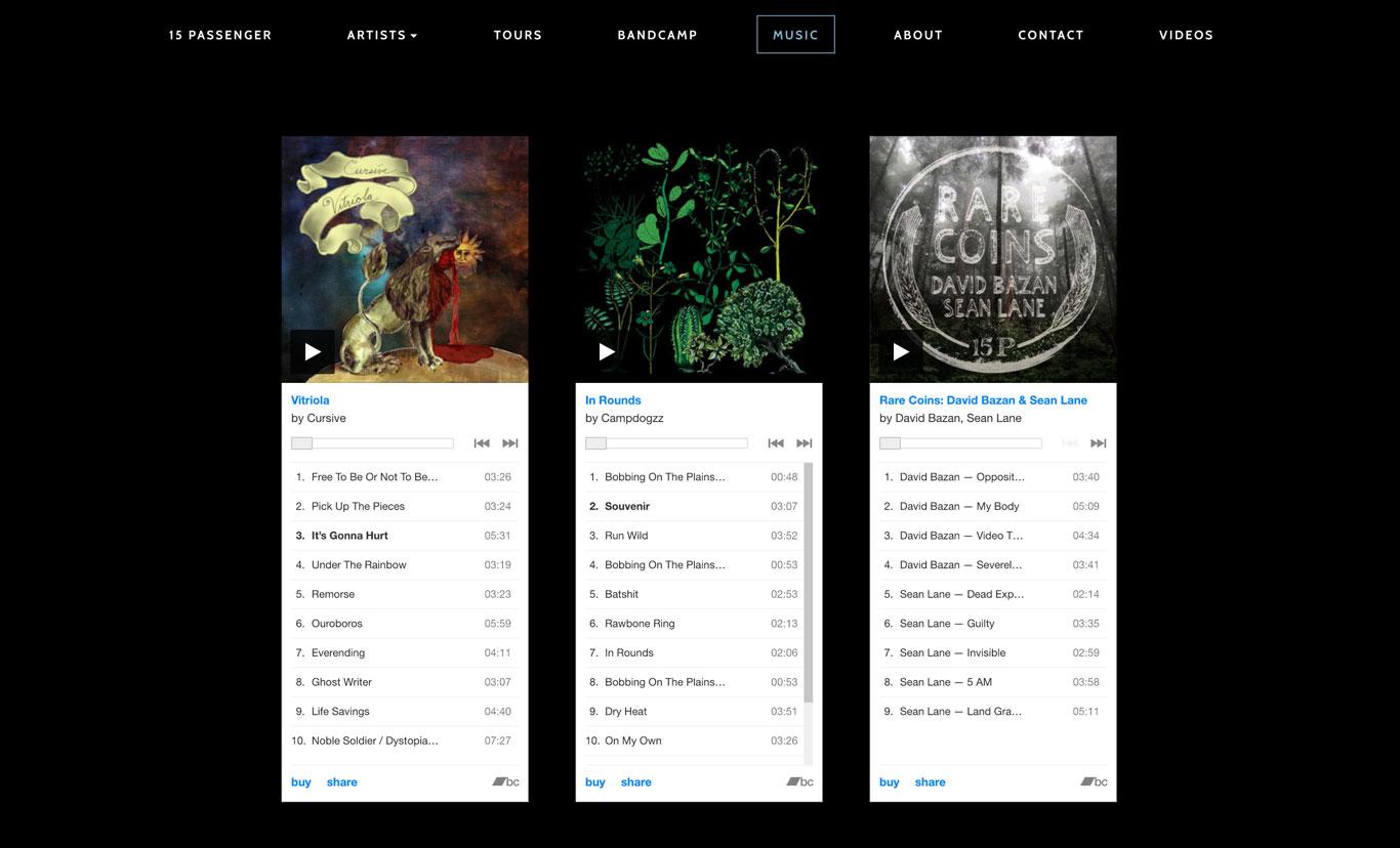 15 Traveler Record Label Website