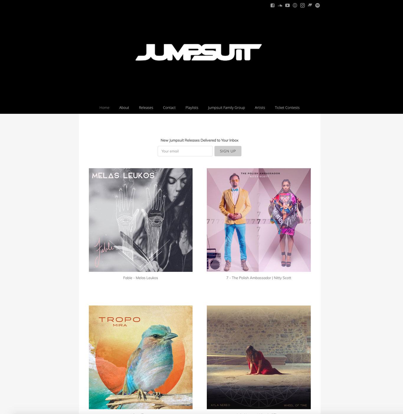 Jumpsuit records label website