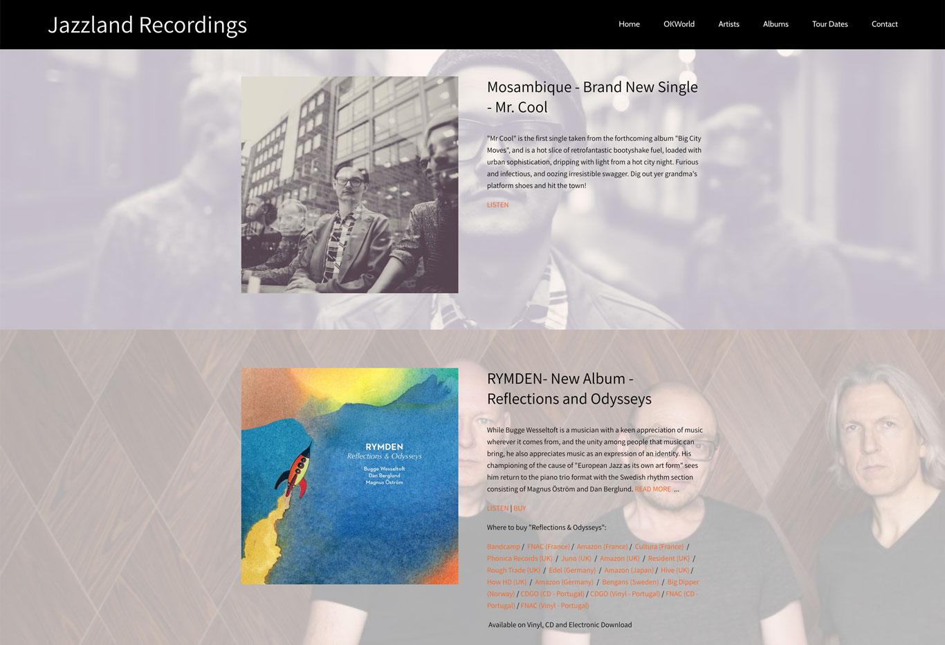 Jazzland Songs Label website