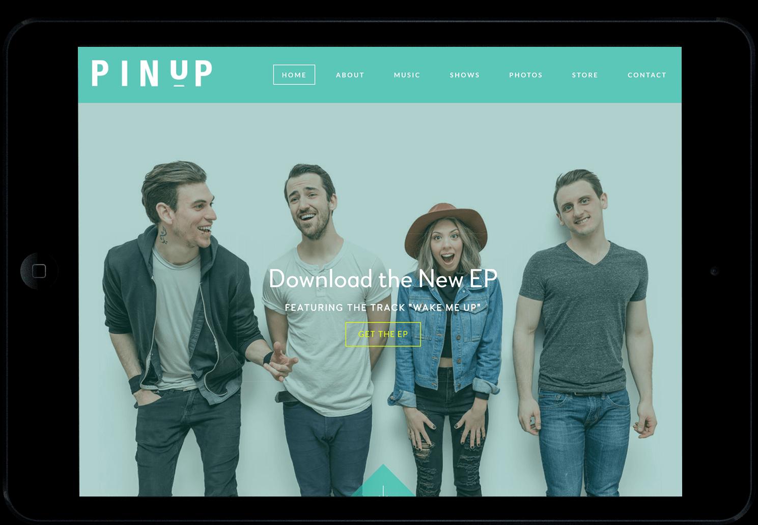 Band websites on an iPad